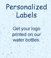 Get LeSage Natural water bottled with your company's logo.